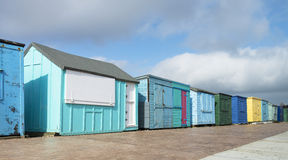 Beach Huts at Duver. Isle of Wight, UK Royalty Free Stock Photography