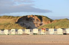 Beach huts. Egmond aan Zee, North Sea, the Netherlands. Royalty Free Stock Image