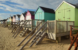 Beach huts Felixstowe seafront Stock Photos