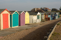 Beach Huts at Ferring, Sussex, England Royalty Free Stock Images