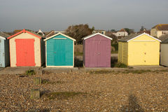 Beach Huts at Ferring, Sussex, England Stock Photography
