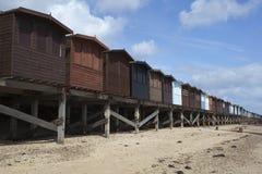 Beach Huts, Frinton, Essex, England Stock Photo