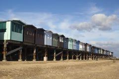 Beach Huts, Frinton-on-Sea, Essex, England Royalty Free Stock Photography