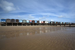 Beach Huts at Frinton-on-Sea, Essex, England Stock Photography