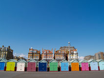 Beach Huts, front view. Royalty Free Stock Image