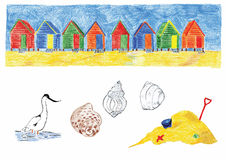 Beach-huts Stock Photo