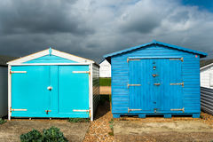 Beach Huts at Hastings Stock Photos