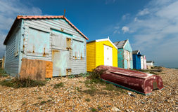 Beach Huts at Hastings Royalty Free Stock Images