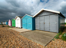 Beach Huts at Hastings Royalty Free Stock Photos