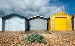 Beach Huts at Hastings Stock Images