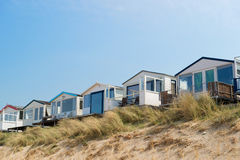 Beach huts in Holland Royalty Free Stock Image