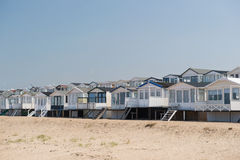 Beach huts in Holland Royalty Free Stock Photos