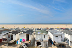 Beach huts in Holland Stock Images