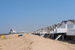Beach huts in Holland Royalty Free Stock Images