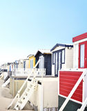 Beach huts or houses and blue sky Royalty Free Stock Photo