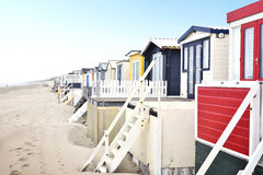 Beach huts or houses and blue sky Royalty Free Stock Photos