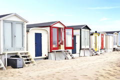 Beach huts or houses and blue sky Royalty Free Stock Photography