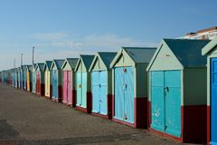 Beach Huts at Hove, Brighton, England Stock Image