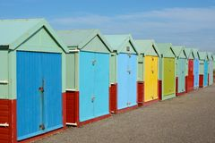 Beach Huts at Hove, Brighton, England Royalty Free Stock Image