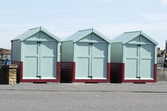 Beach huts at Hove, Brighton, Sussex, UK Royalty Free Stock Images