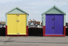 Beach huts at Hove. Brighton. Sussex. UK Stock Photography