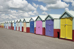 Beach huts. Hove. Sussex. England Stock Images