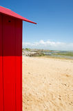 Beach huts on island Oleron in France. Colorful beach huts on the beach at Saint-Denis island d'Oleron in France royalty free stock photos