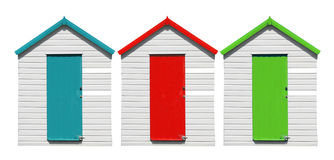 Beach Huts Isolated Stock Images