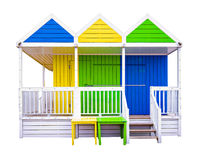 Beach huts isolated on white Stock Photos