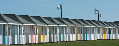 Beach Huts Landscape UK Stock Photography