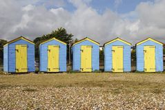 Beach huts. Littlehampton. Sussex. UK Royalty Free Stock Photography