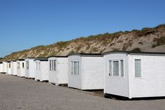 Beach huts in Løkken Royalty Free Stock Photography