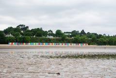 Beach huts on Llanbedrog beach, North Wales, UK Stock Photography