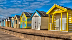 Colouful Beach Huts stock images