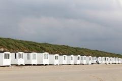 Beach huts in Lokken Royalty Free Stock Photo
