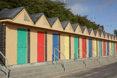 Beach huts at Lowestoft, Suffolk, England. Stock Photos