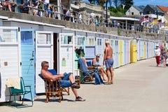 Beach Huts, Lyme Regis. Stock Images