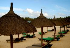 Beach huts, Mauritius Stock Photo