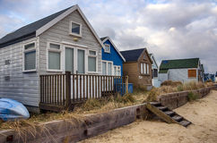 Beach Huts on Mudeford Spit Stock Images