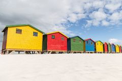 Muizenberg Beach Huts royalty free stock photography