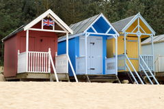 Beach huts Stock Photo