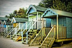 Beach Huts stock photos