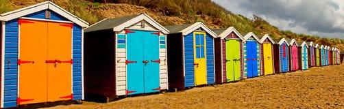 Beach-huts North Devon beach Stock Photography