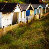 Beach Huts. North Norfolk picturesque and colourful Stock Photography