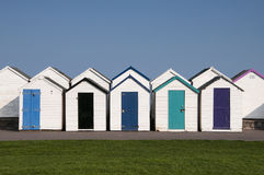 Beach Huts at Paignton, Devon, UK. Colorful beach huts at Paignton, Devon, UK Royalty Free Stock Photography