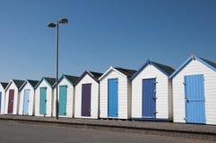 Beach Huts at Paignton, Devon, UK. A row of beach huts at Paignton, Devon, UK Royalty Free Stock Photo