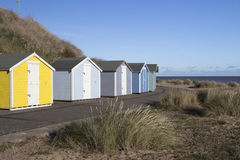 Beach Huts at Pakefield, Suffolk, England Stock Image