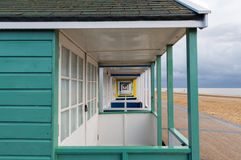 Beach Huts Perspective Royalty Free Stock Images