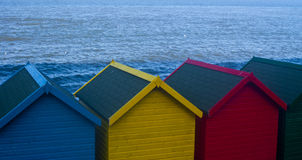 Beach huts. A picture of some brightly coloured beach huts Royalty Free Stock Photo