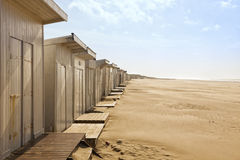 Beach huts at Plage du Calais Stock Photos